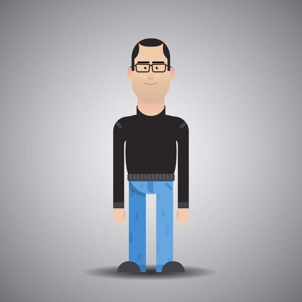 Flat Character Self Portrait - image 1 - student project