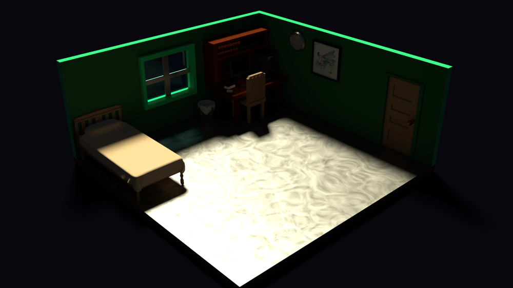 Low Poly Bedroom - image 2 - student project