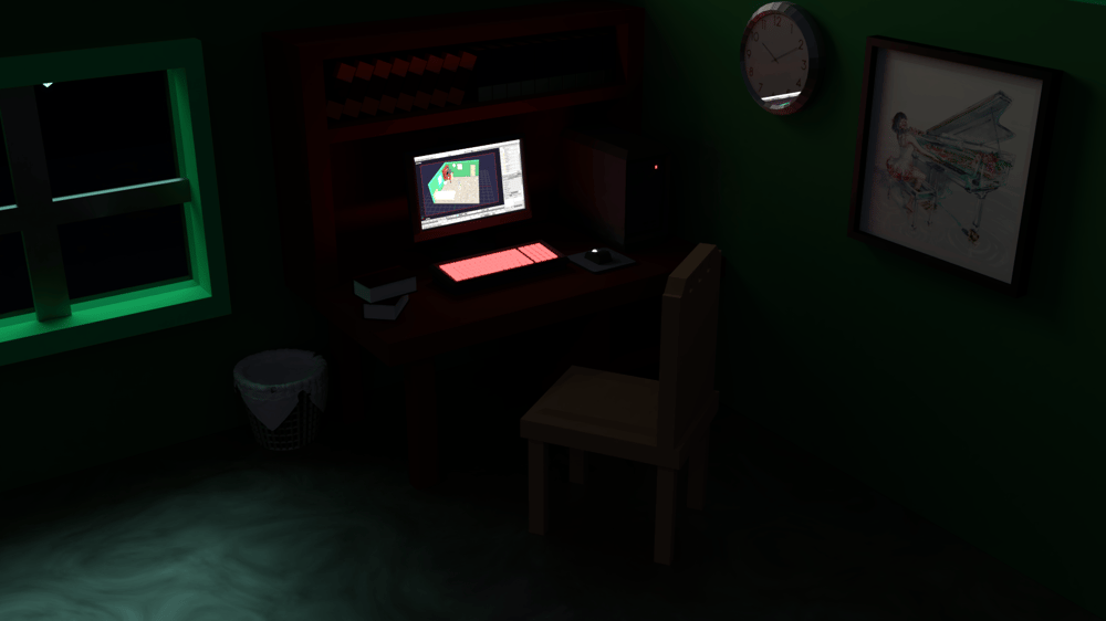 Low Poly Bedroom - image 3 - student project