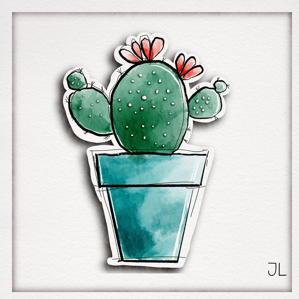 Paper cutout cactus - image 4 - student project