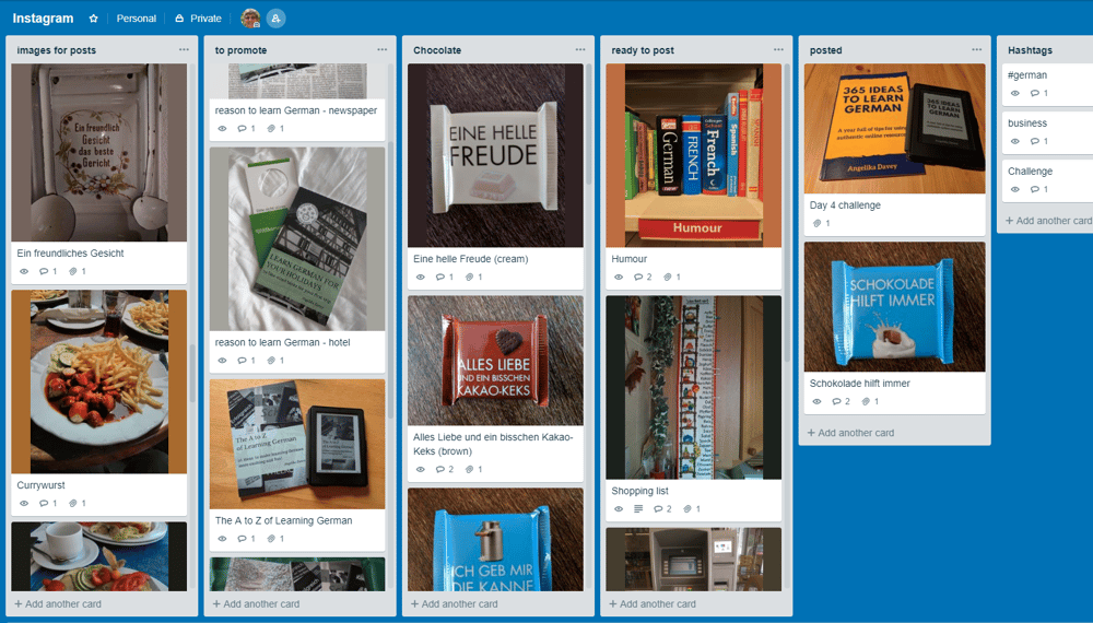 Organising my photos for Instagram with Trello - image 1 - student project