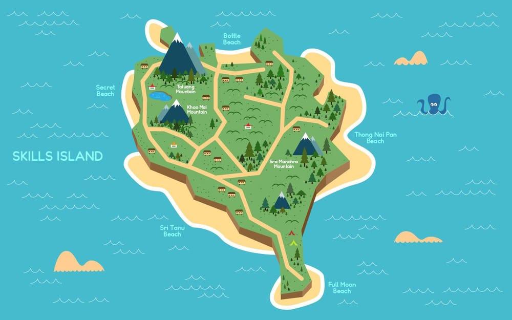 Koh Phangan island based map - image 2 - student project
