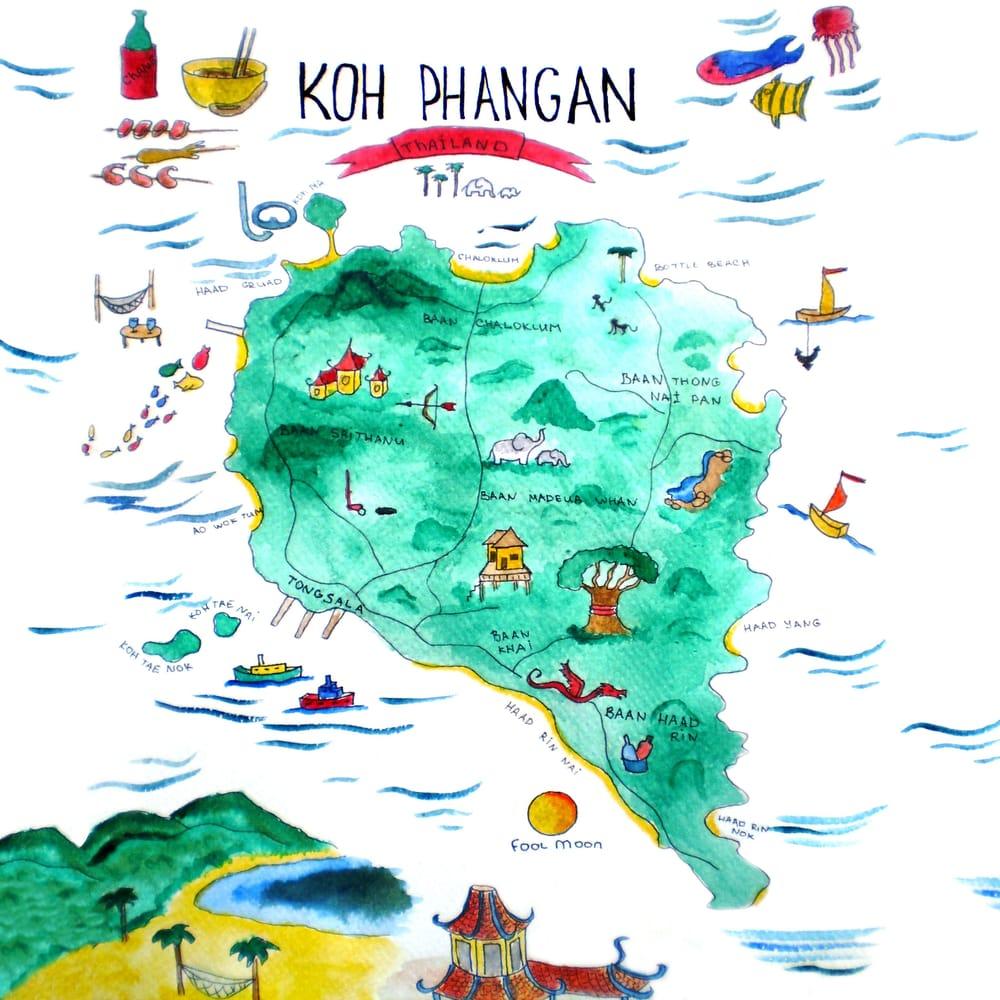 Koh Phangan island based map - image 1 - student project