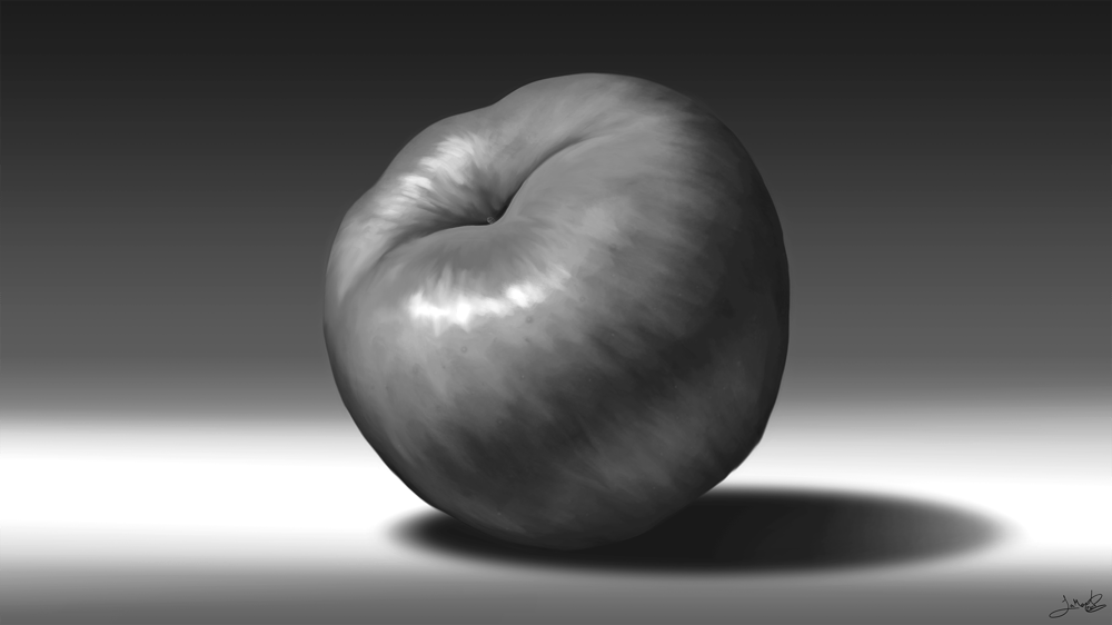 Still Life: Apple & Cherries - image 2 - student project