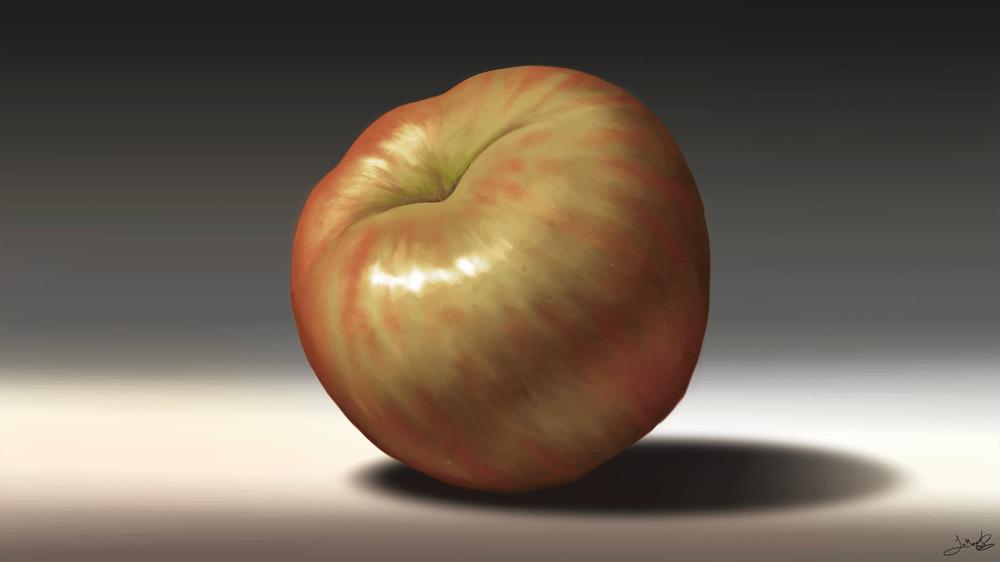 Still Life: Apple & Cherries - image 3 - student project
