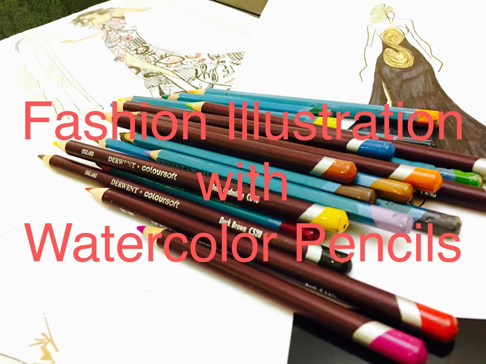 Fashion Illustration with watercolor pencils - image 1 - student project