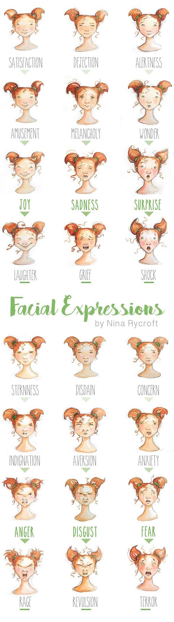 Nina's Facial Expressions Tall Pin - image 1 - student project