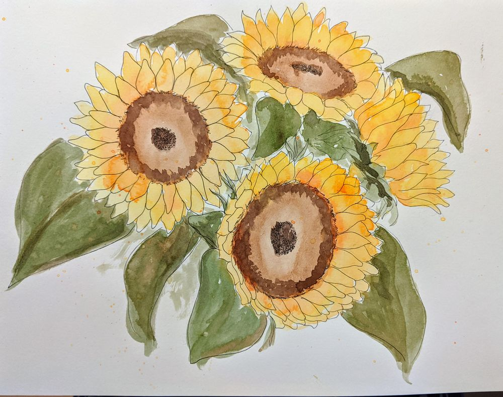 Sunflowers - image 1 - student project
