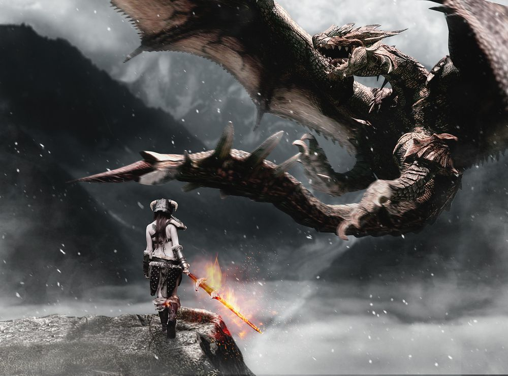 My dragon hunter version - image 1 - student project