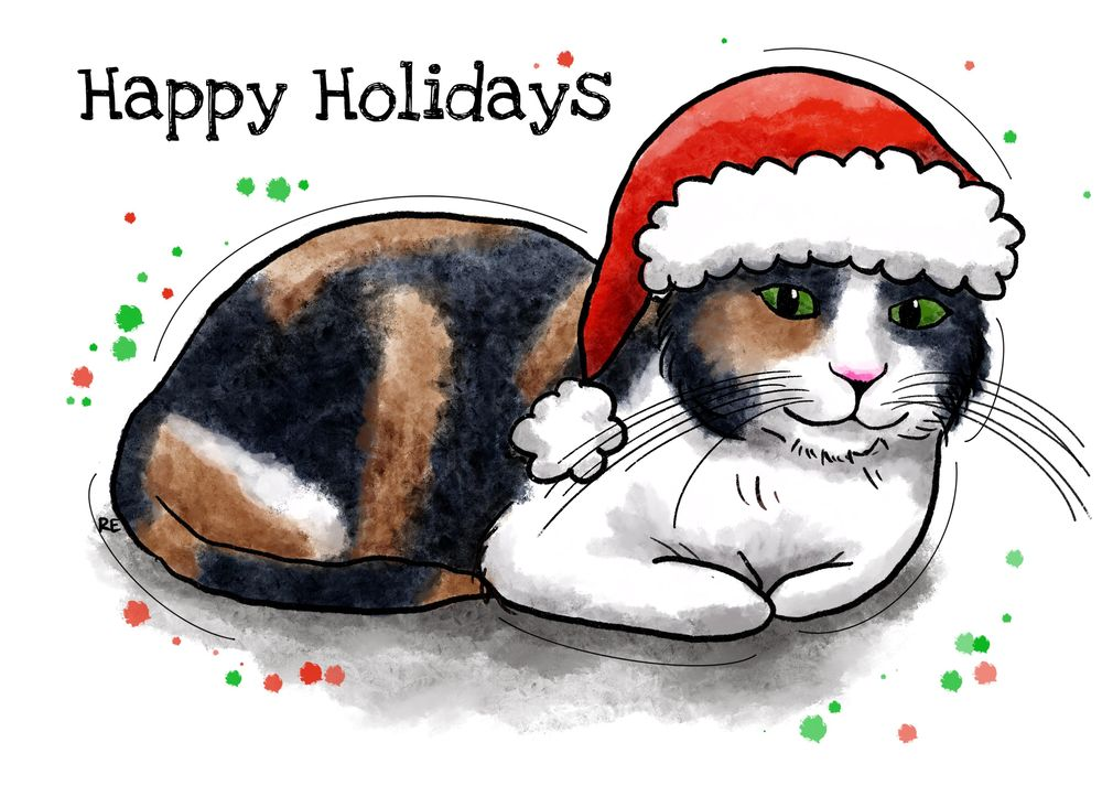 Xmas cat - image 1 - student project