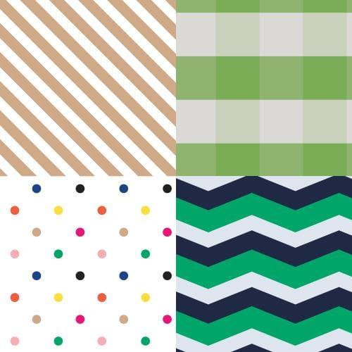 4 Handy Patterns - Diagonals, Plaid, Colorful Dots, Chevron - image 1 - student project