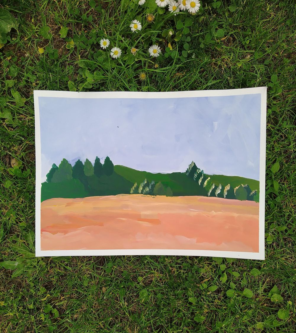 First Ever Acrylic Painting - image 1 - student project