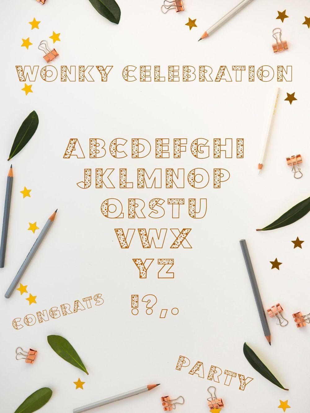 Wonky Celebration Font - image 1 - student project