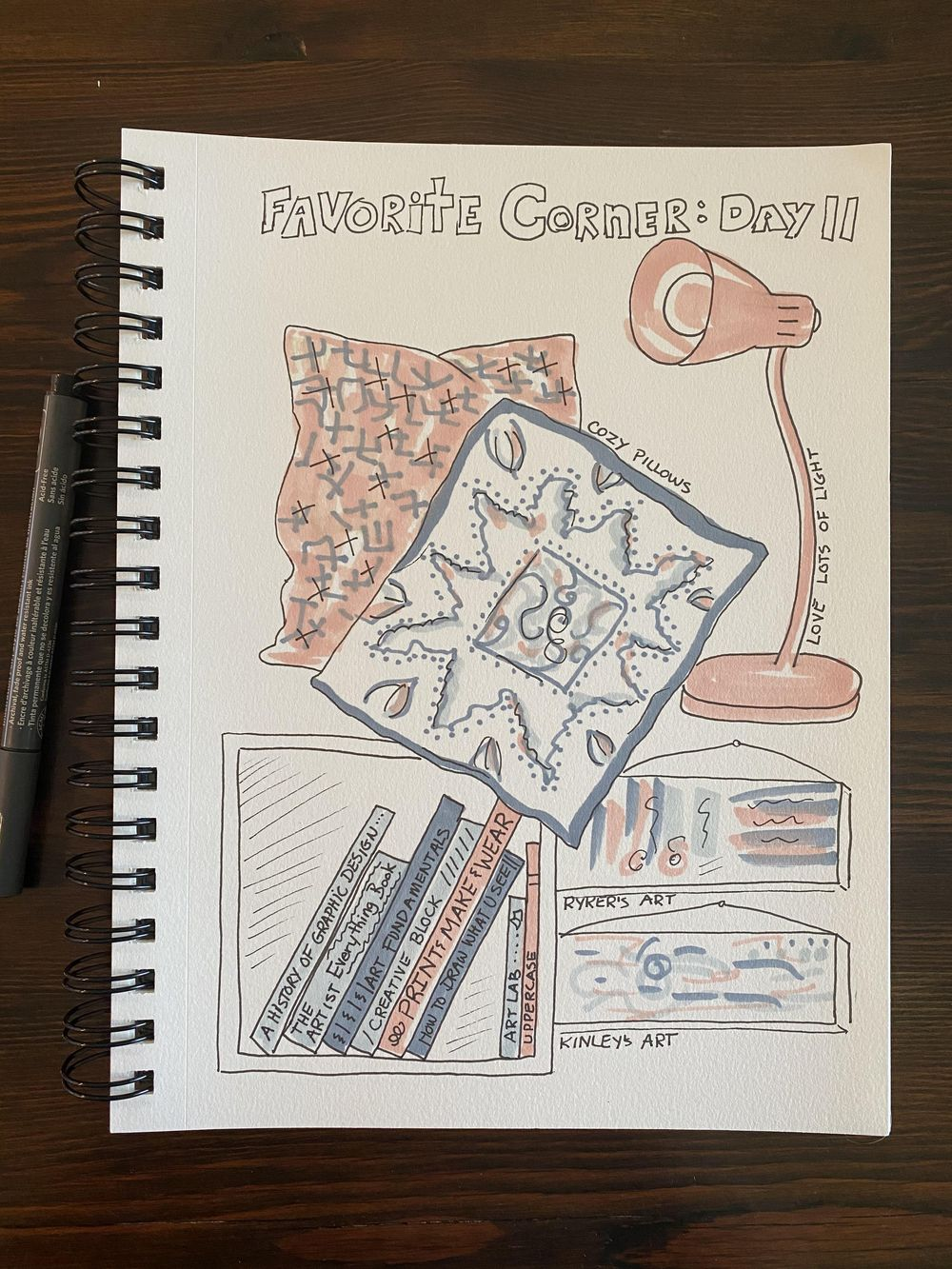 Illustrated Journaling: 14 Days of Prompts - image 11 - student project