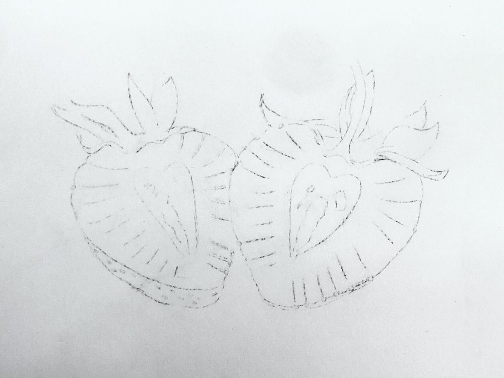 Strawberries in Colored Pencil - image 1 - student project
