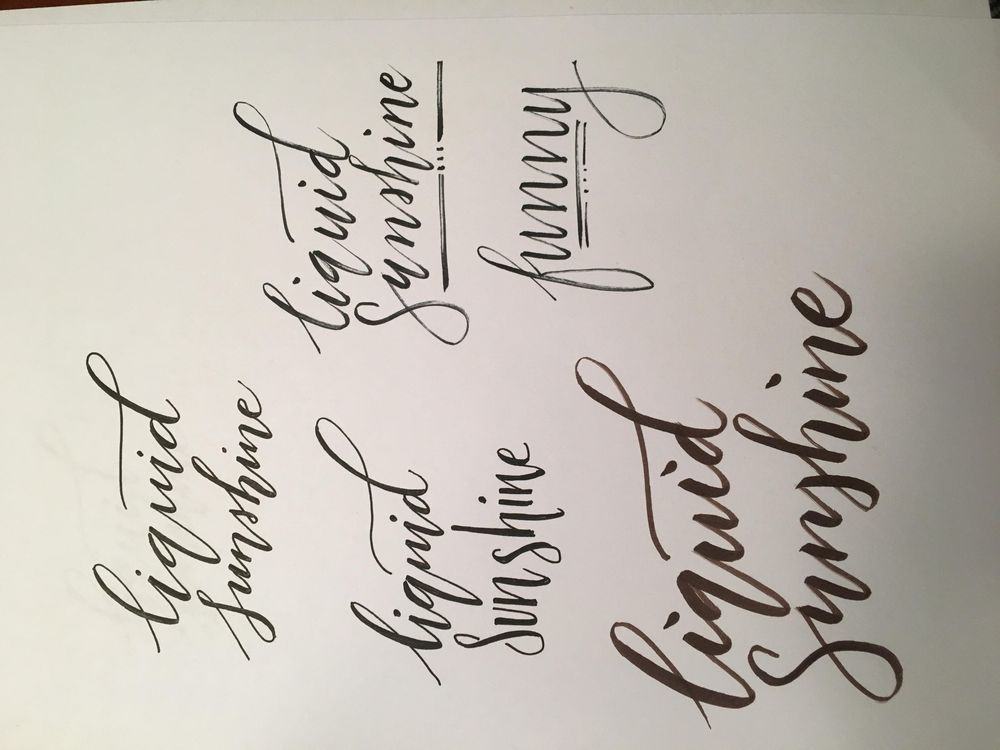 Liquid Sunshine - practicing bounce lettering - image 2 - student project