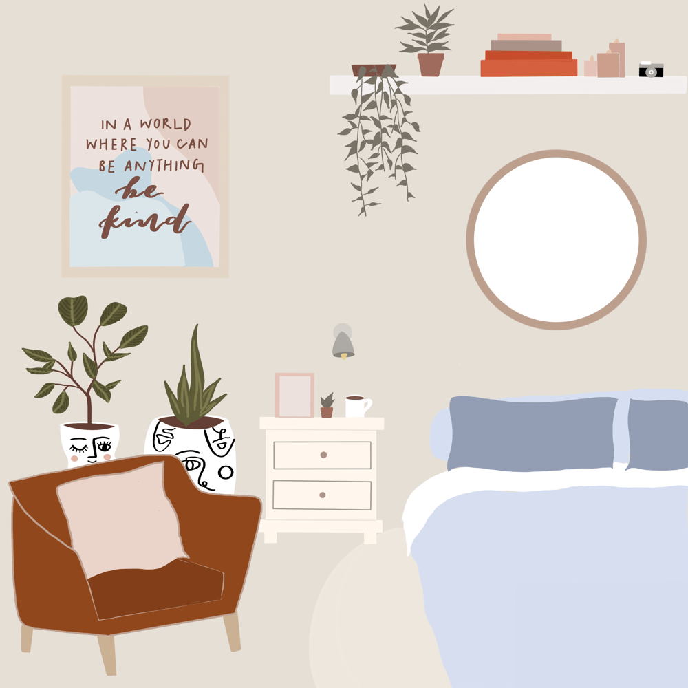 a cozy lil bedroom - image 1 - student project
