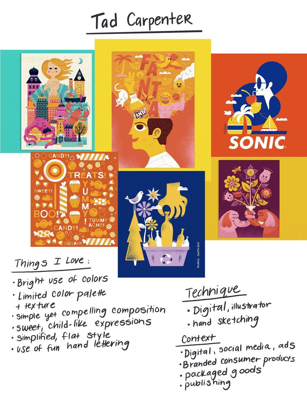Illustration Style Exploration - image 2 - student project