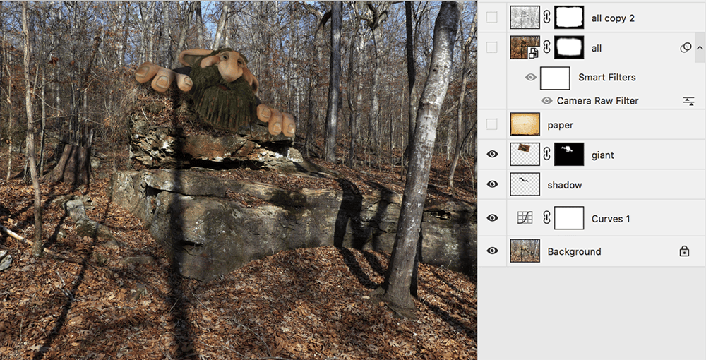 Giant in the woods - image 2 - student project