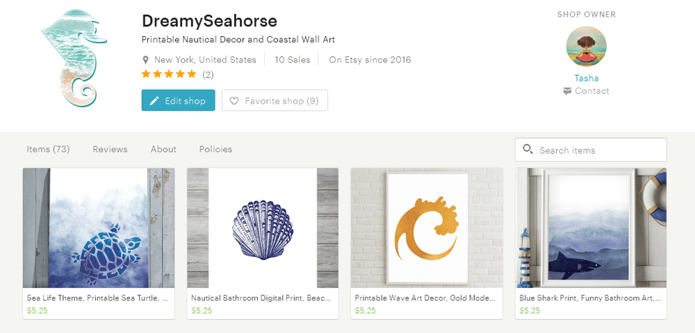 Dreamy Seahorse: Nautical and Coastal Printables - image 1 - student project