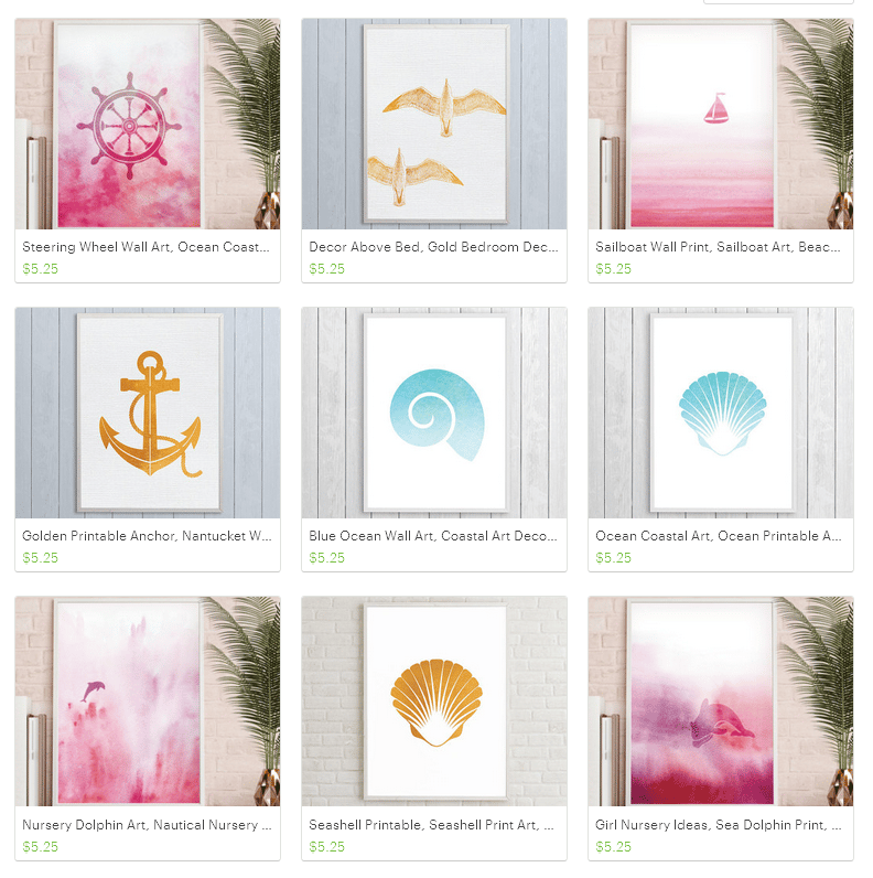 Dreamy Seahorse: Nautical and Coastal Printables - image 2 - student project