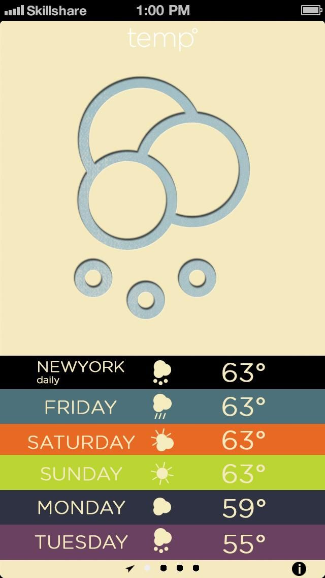 Letterpress Weather - image 6 - student project