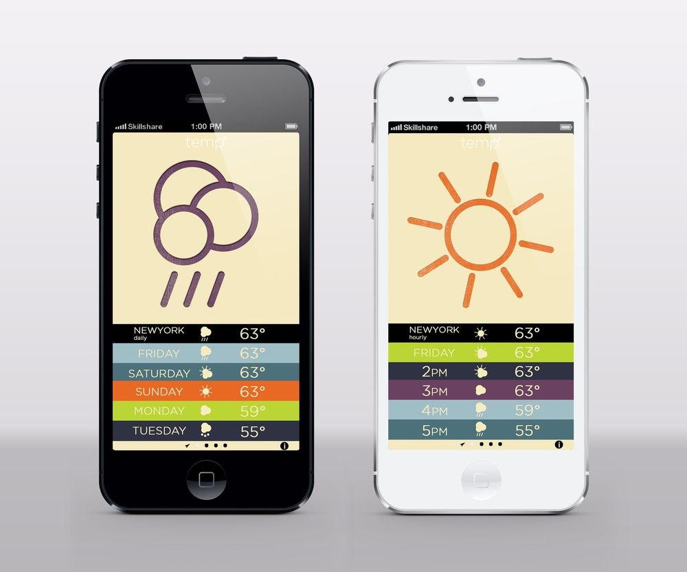 Letterpress Weather - image 1 - student project