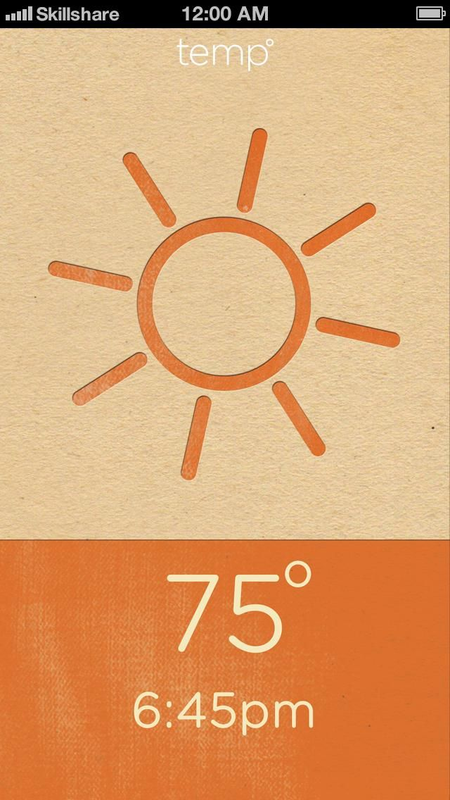 Letterpress Weather - image 12 - student project