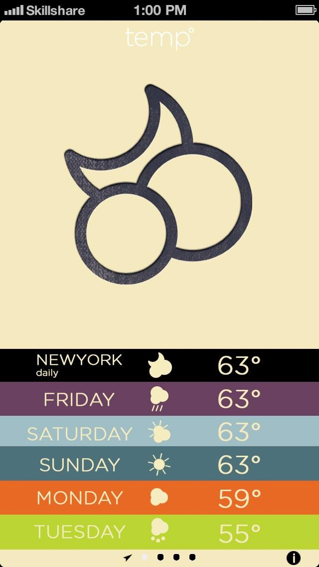 Letterpress Weather - image 3 - student project