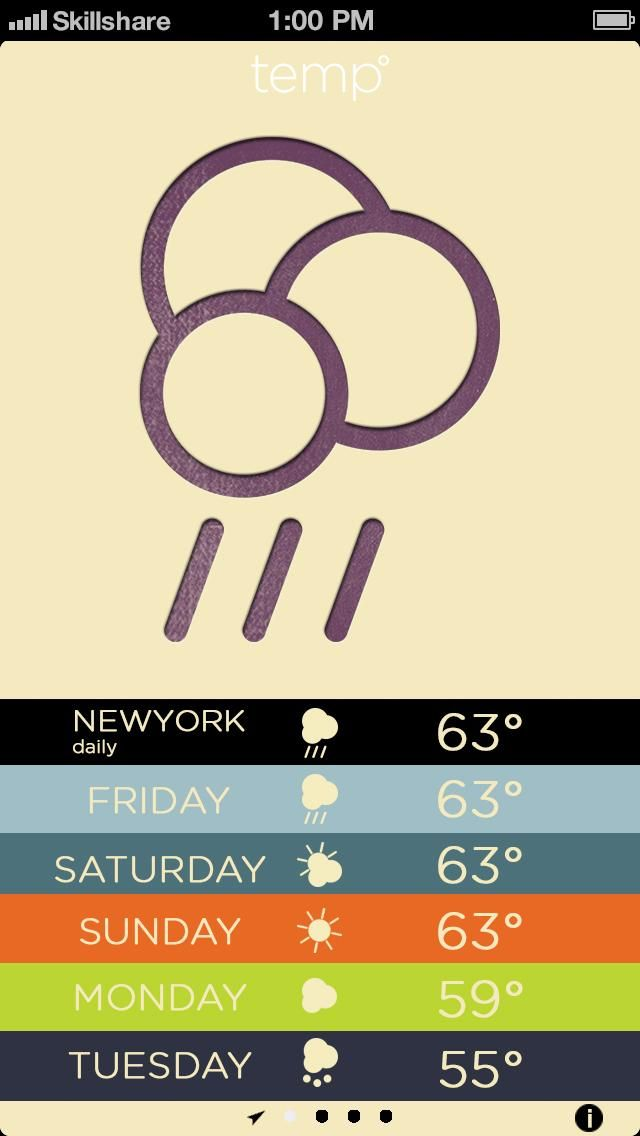 Letterpress Weather - image 8 - student project