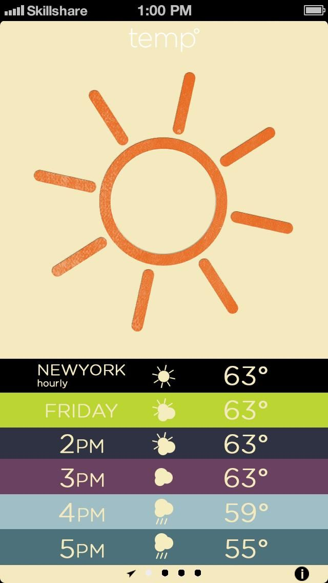Letterpress Weather - image 9 - student project