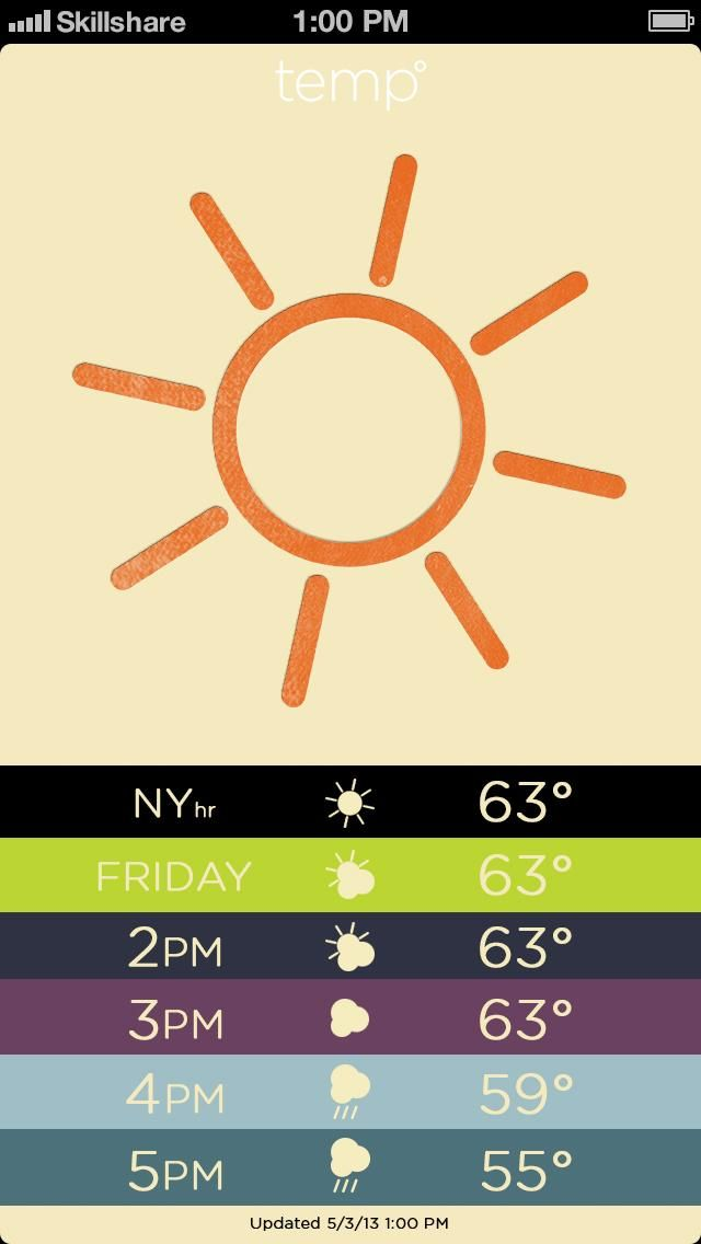 Letterpress Weather - image 10 - student project