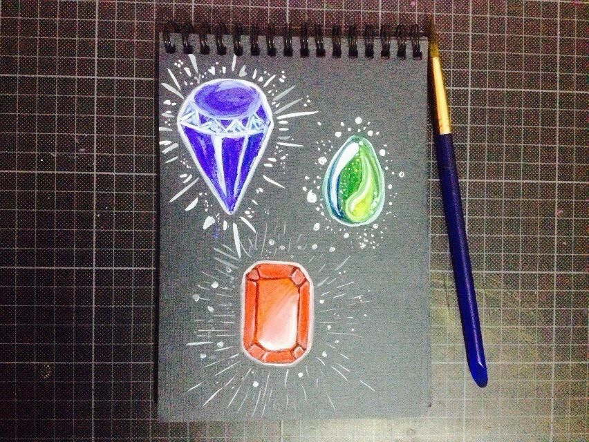 gems in watercolor - image 5 - student project