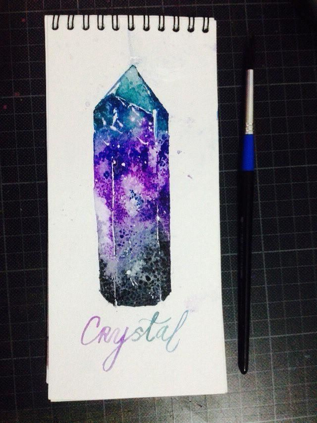 gems in watercolor - image 6 - student project