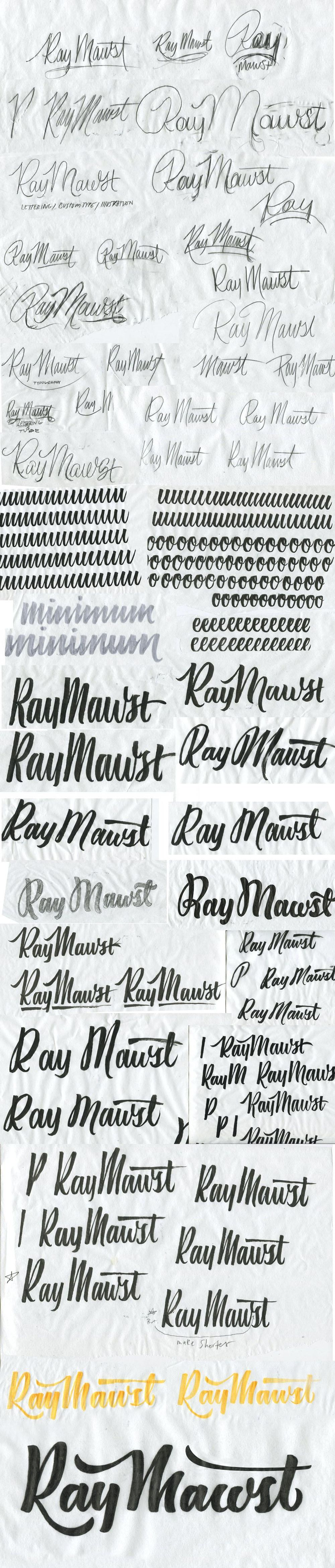 Ray Mawst - Lettering and Illustration - image 5 - student project