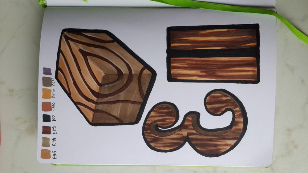 wood with copics - image 1 - student project