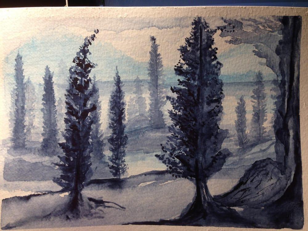 Pine Trees Indigo - image 1 - student project
