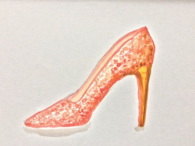 Rose gold sequin stiletto - image 1 - student project