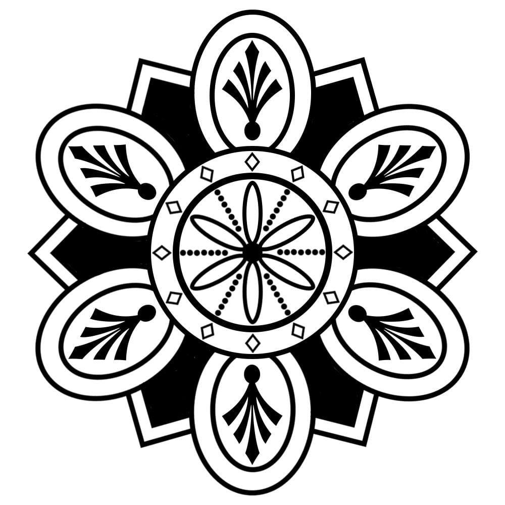Mandala in Photoshop - image 1 - student project