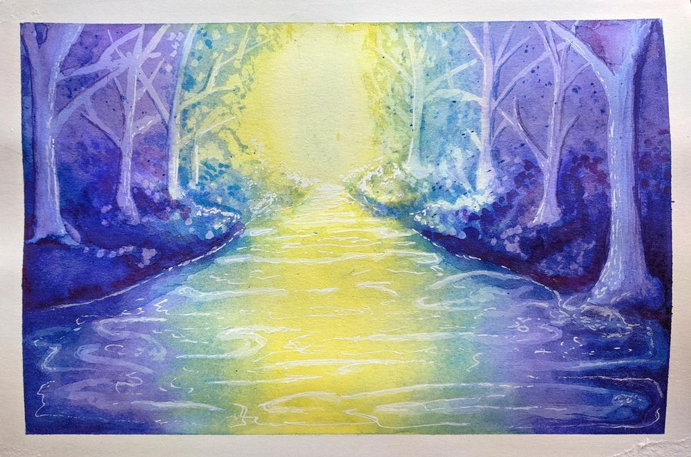 My Fantasy Forest River - image 2 - student project