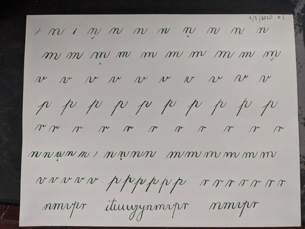 Copperplate Practice & Feedback - image 7 - student project