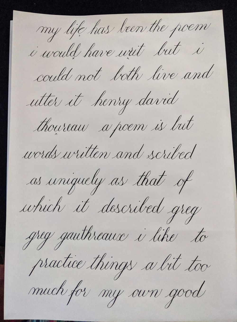 Copperplate Practice & Feedback - image 4 - student project