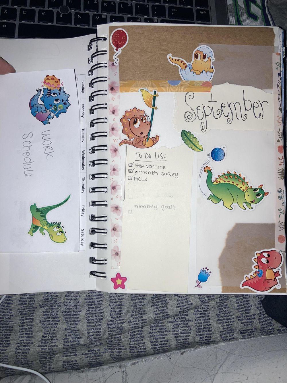 September bullet journal spread - image 1 - student project