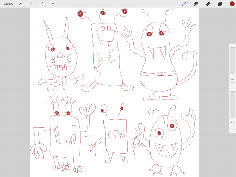 Ipad Pro and Procreate Monsters - So much fun !!! - image 1 - student project