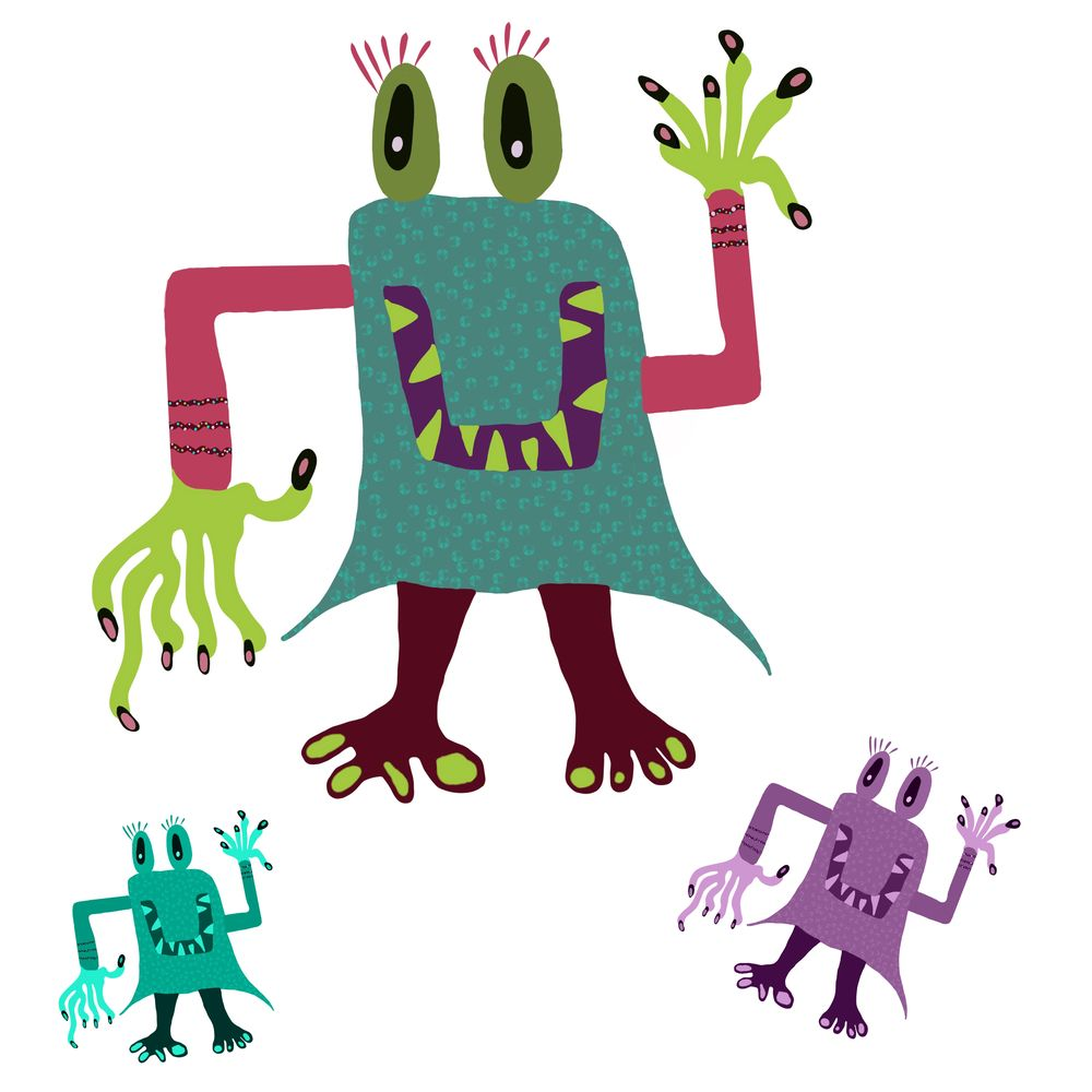 Ipad Pro and Procreate Monsters - So much fun !!! - image 2 - student project