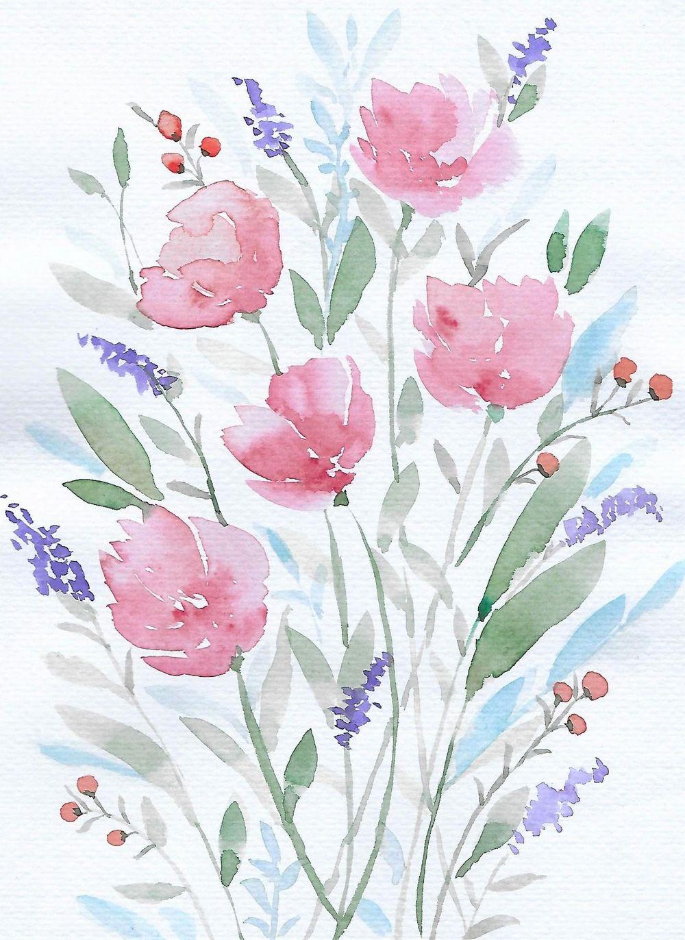 Watercolour techniques - image 1 - student project