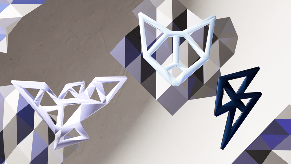 Printed Jewelry, modeled in Blender - image 7 - student project
