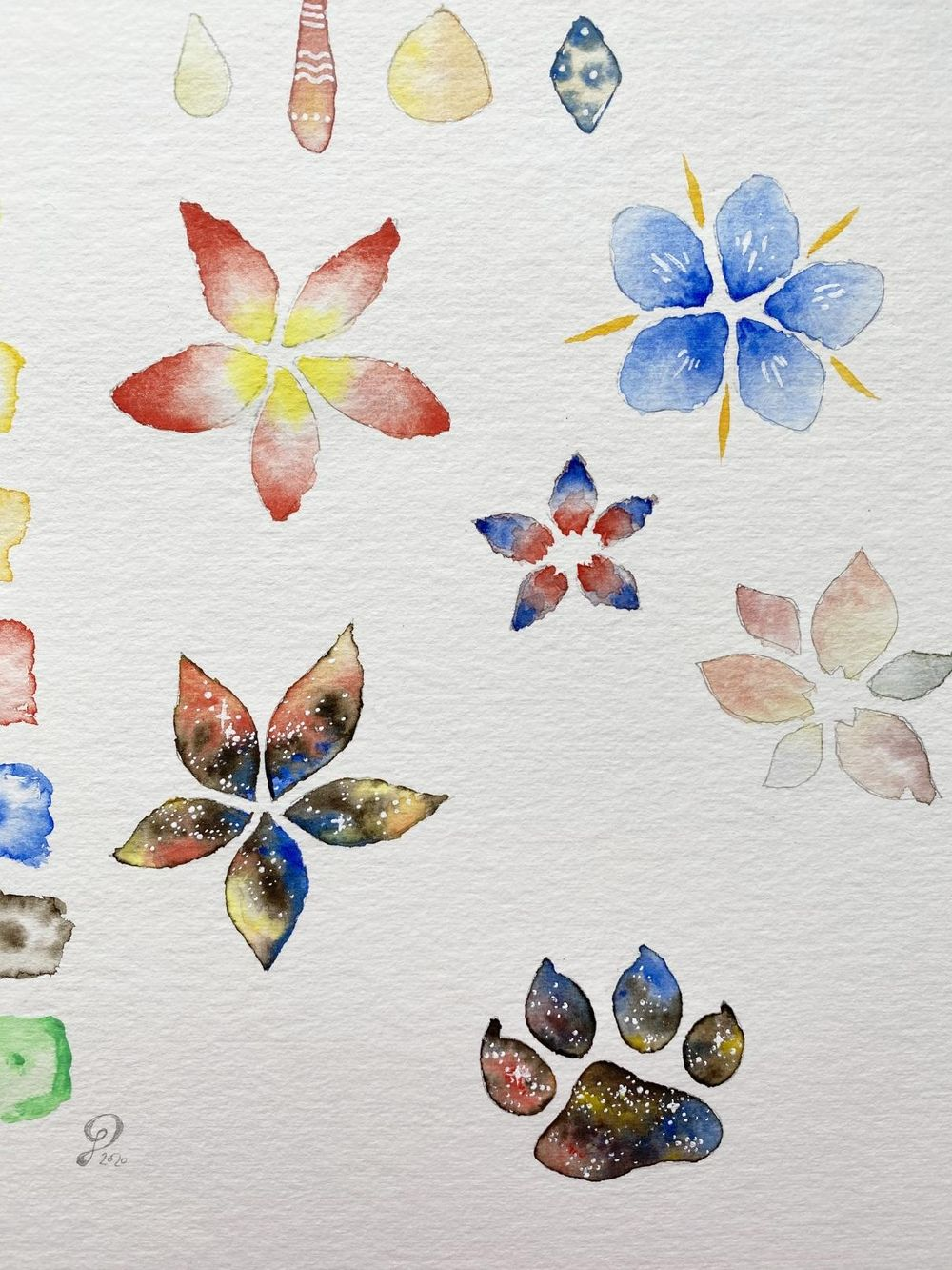 Watercolor Flowers - so much fun and cool effects! - image 5 - student project