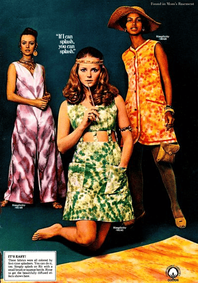 Vintage inspiration mood board from the 1960s and 1970s - image 1 - student project