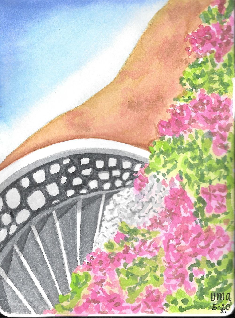 Watercolor  Greece Travelogue - image 1 - student project